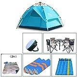 Zelt/ DELLT Outdoor Feld 3-4 Personen Camping Wasserdichte Familie Vollautomatische Paket 210 * 180 * 130cm (Größe : G)