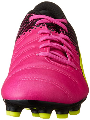 Puma evoPOWER 4.3 Tricks AG, Chaussures de football homme Rose (Pink Glo/Safety Yellow/Black)