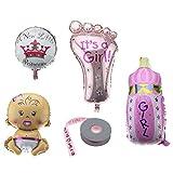 OTOTEC Folienballon für Mädchen, für Babypartys, Taufe, Geburtstag, Party-Dekoration