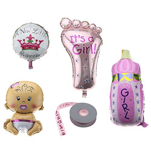 OTOTEC - Globo de Helio para niñas con Cinta de Bautizo, decoración de Fiesta de cumpleaños