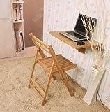 SoBuy® Wandklapptisch, Klapptisch, Tisch, Küchentisch, Kindermöbel aus Bambus, FWT031-N, 60x40cm, Farbe: Bambus Natur