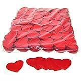 Mondial-fete - 100 gr confettis papier cœur rouge 5 cm