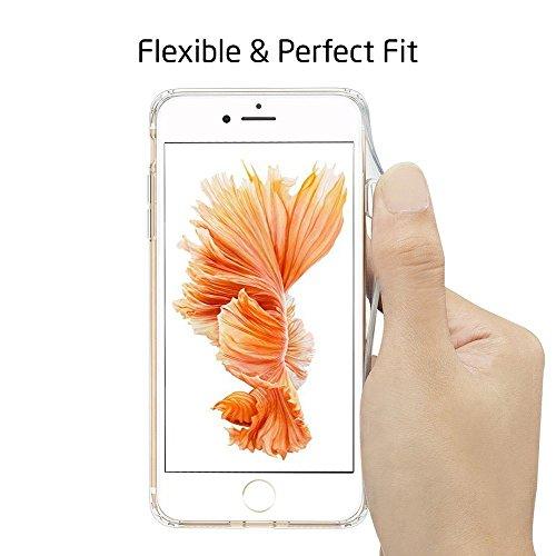 iPhone 7 Hülle, iPhone 7 Invisible Hülle, Richoose iPhone 7 [Slim Fit] Freie weiche TPU Gel-Gummi [Kratzer beständig] Silikon-Schutzhülle, Crystal Clear Bumper Case, buntes Muster Design Netter Drucke B