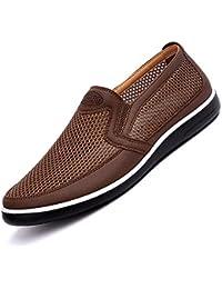 Mocasines De Hombre Zapatos De Vestir Transpirables Slip-On Summer Dad Zapatos Informales