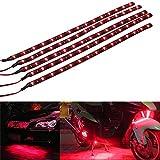 Mintice™ 5 X rosso 12V striscia luminosa sottoscocca impermeabile flessibile 15 LED 30 centimetri auto veicolo auto griglia