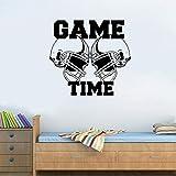 Voberry American Football Helme Gametime Sport Wandaufkleber Vinyl Art Dekor Aufkleber