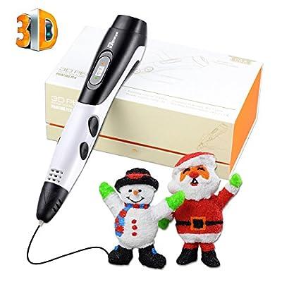 Tipeye 3D Pen mit 1.75mm PLA Filament, professionelle 3D Print Pen Kits mit LED Display für Doodling, Zeichnung, Kunst & Handwerk Making