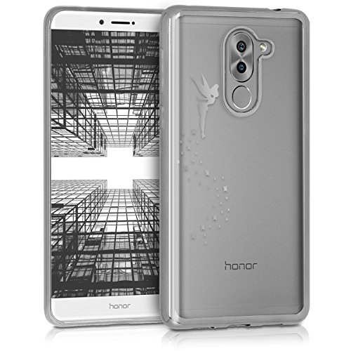 kwmobile Huawei Honor 6X / GR5 2017 / Mate 9 Lite Hülle - Handyhülle für Huawei Honor 6X / GR5 2017 / Mate 9 Lite - Handy Case in Silber Transparent