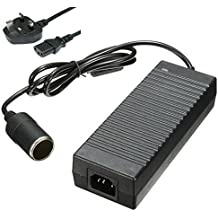 240v Mains To 12V DC Cigarette Lighter Voltage Converter Power Adapter 10A SB12