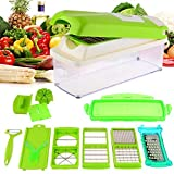 #2: Magikware 12 in 1 Vegetable Cutter - Chopper, Grater, Slicer Dicer, Peeler - All In One (Green)