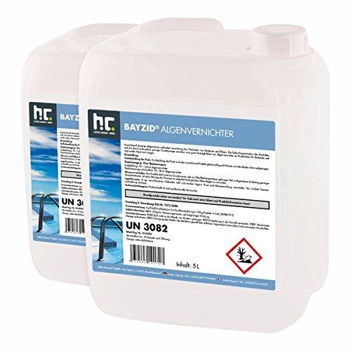Höfer Chemie 2x5 L Pool Algenvernichter - Anti Algenmittel für Schwimmbad & Pool - schnelle Wirkung bei Algen