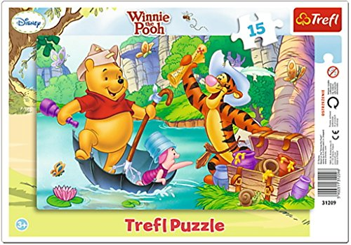 Puzzle ramkowe Kubus Puchatek Wyprawa po skarb 15