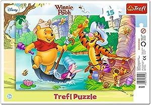 TREFL-Winie The Pooh Puzzle con Marco 15Piezas, 31209u