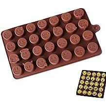 Molde de Silicona para Tartas, diseño de emoticonos, para Fondant, jabón y Jalea