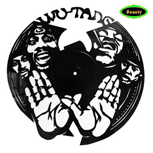 NEU. Wutang Hip-Hop Music Band Singer Thema Vinyl Record Album Art Wand Home decor-personalized 3D Print–Moderne Aufkleber Kunst Wandmalerei 30,5cm -fine Geschenkidee Hochzeit Jahrestag Musik Party (Vintage Kunst Original Poster)