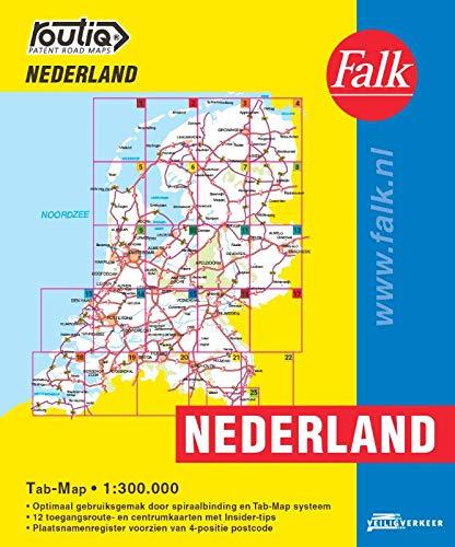 Falk autokaart Nederland Routiq (Routiq patent wegenkaarten)