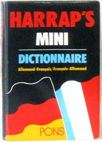 HARRAP MINI ALLEMAND/FRANCAIS-FRANCAIS/ALLEMAND par Harrap