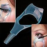 NiceButy 3 in 1 Mascara Applicator Guide Tool Eyelash Comb Makeup Plastic Curler Beauty