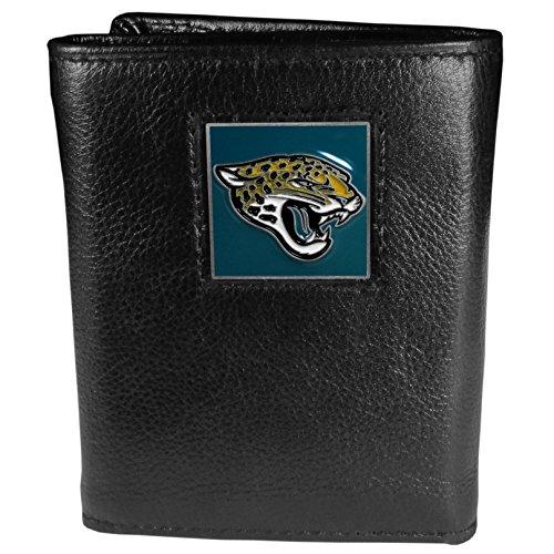 Siskiyou Gifts Co, Inc. NFL Herren Geldbörse Leder dreifach gefaltet, Herren, Jacksonville Jaguars, Medium