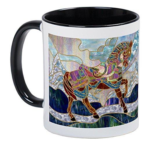 CafePress-und Karussell Pferd-Einzigartige Kaffee Tasse, Kaffeetasse, Small White/Black Inside