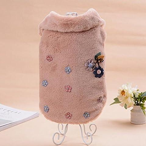 Pet im Herbst und Winter warme komfortable Plüsch Hund Kleidung aus Baumwolle (Männliche Kaninchen-kostüm)