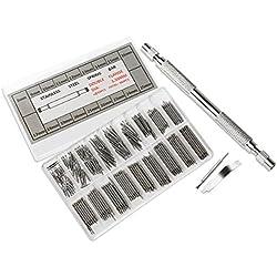 Pixnor 360pcs 8-25mm Band rostfrei Stahl Feder Bars Pins Frühling Hyperlinkleisten Remover Repair Tool Uhrenset