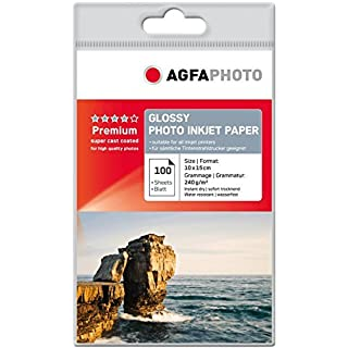 Agfa 10x15cm 240gsm Premium Glossy Ink Jet Photo Paper (100 Sheets) - Silver edition