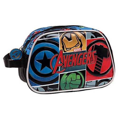 Avengers Trousse de Toilette Adaptable Vanity, 24 cm, 3,36 L, Noir