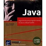 Java - Coffret de 2 livres : Algorithmique et programmation : les bases indispensables
