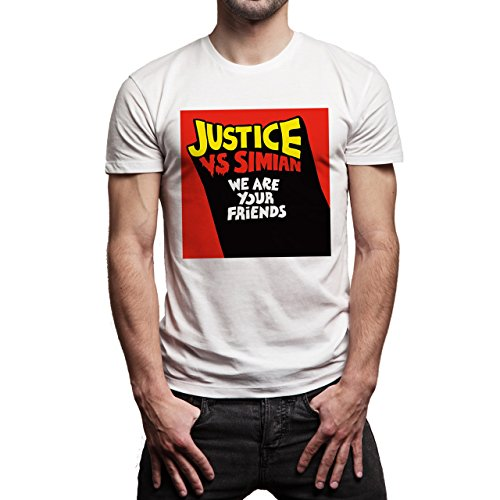 We Are Your Friends Movie Summer WAYF Justice VS Simian Cover Background Herren T-Shirt Weiß