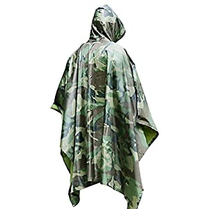 Waterproof Rain Poncho by DigHealth, Packable Lightweight Rain Coat for Men and Women, Hooded Rainwear with Emergency Grommet Corners for Shelter Use, Fast Dry Raincoat Slicker for Hiking, Long Travel by YItianming