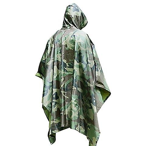 Regenponcho bei DigHealth, Wasserdicht Regenjacke Regenmantel mit Kapuze, Rip-Stop PVC Atmungsaktive Regenbekleidung, Outdoor Regenumhang für (Leggero Pioggia Poncho)