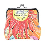 DEYYA Femme Ananas Tropical Fruit hawaïenne Fermoir Porte-Monnaie Cartes Case Porte-Monnaie Sac à Main d'embrayage Taille Unique Multicolore