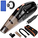Anpro Car Vacuum Cleaner 4 In 1 Handheld Vacuum DC 12V 106W Wet/Dry Handheld Auto Vacuum Cleaner With Strong Suction,Filter, 14.7FT (4.5M) Power Cord with Carry Bag