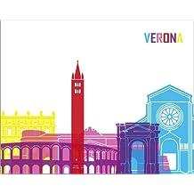 Cuadro sobre lienzo 100 x 80 cm: Verona de Colourbox - cuadro terminado, cuadro sobre bastidor, lámina terminada sobre lienzo auténtico, impresión en lienzo
