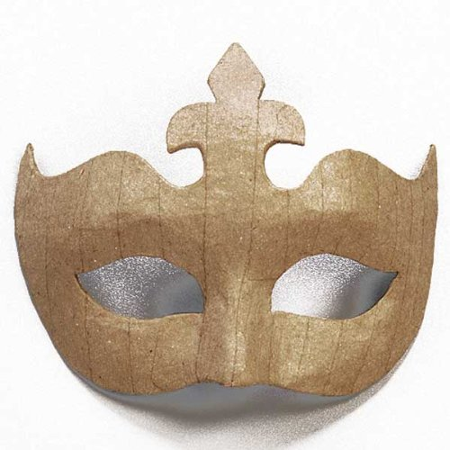 Augenmaske - Maske aus Pappmaché zum Selbstgestalten 14 x 17 cm, Krone (Pappmaché Maske)