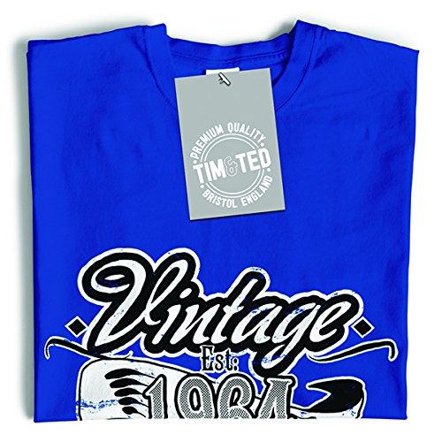 Vintage Est 1964 53 ° Anno di nascita Vecchio tradizionale unico Slogan T-Shirt Da Donna Black