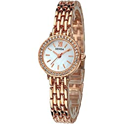 Fashion Bracelet Rhinestone Alloy Strap Quartz Women Girl Wrist Watch,Gold