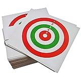100 Bersagli in Cartoncino Tricolore 14x14 cm Bersaglio Softair Quadrato