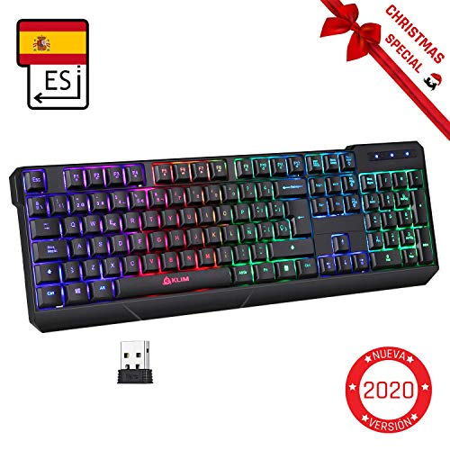 KLIMTM Chroma Wireless - Teclado Inalámbrico Gaming