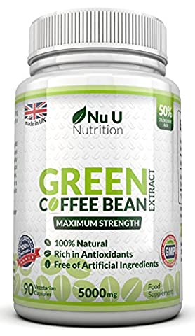 Green Coffee Bean Extract 90 Capsules by Nu U Nutrition