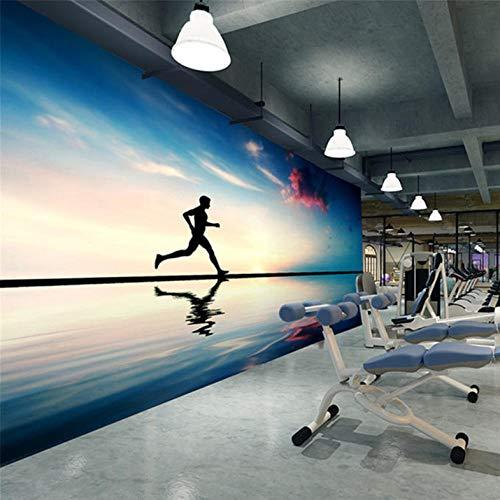 Wandbild Tapete 3D Mode Laufen Sportler Schönheit Fitness Club Fitness Großes Wandbild Tapete Yoga-300cmx210cm - Dunes Club