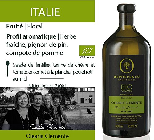 Oliviers & Co | Huile d'Olive Vierge Extra BIO Olearia Clemente 500 ML
