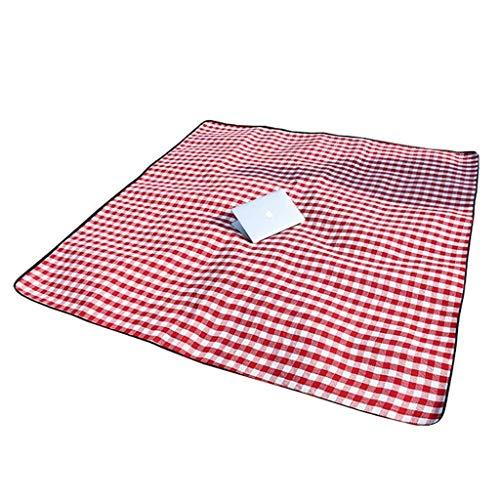 Große Picknickdecke Verdickter, tragbarer Strandteppich aus 6 mm rot-weißem Plaid Picknick-Matte ()