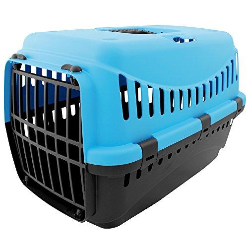 Tierbox - Transportbox - Transport - Tiere - Hund - Katze mit Farbauswahl (blau)