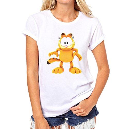 Garfield High Resolution Wallpaper Damen T-Shirt Weiß