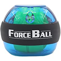 Lustre ForceBall Bola tipo giroscopio para ejercicios de fortalecimiento de muñeca y brazo, azul