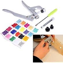 keebgyy resina Snap Press alicates abrazaderas abrazadera de presión de la mano herramienta de instalación + 150pcs plástico colores T5Snap Botón