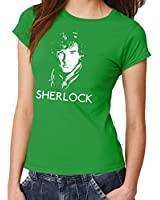 -- Sherlock - Face -- Girls Shirt