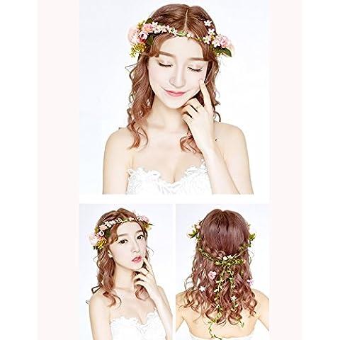 La nueva novia del tocado de la luna de miel Simulación del rosetón de la boda vestido de accesorios para el pelo de la joyería de boda de la foto con los accesorios (siete modelos) ( Estilo : C )